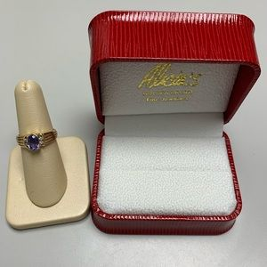 Jewelry - 14K Yellow Gold Oval Tanzanite and Diamond Ring